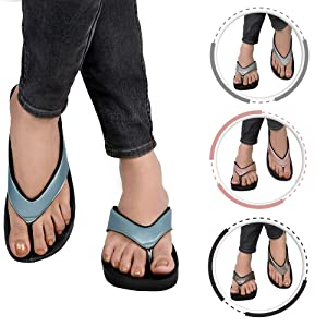 56c8df528975 comfortable arch support black glitter flip flops orthotic sandals for women
