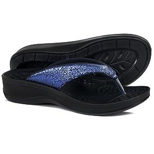aerothotic comfortable arch support platform sandals flip flops for women