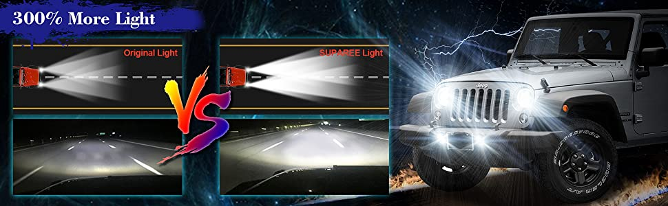Amazon Com  Suparee 7 Inch Led Headlights Rgb Halo Angel Eyes 7 U201d Round Drl Bluetooth Remote
