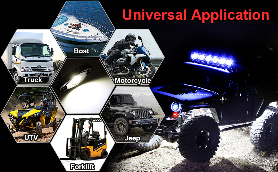 LED Rock Lights White Kit for JEEP Off Road Truck Auto Car Boat ATV SUV Waterproof