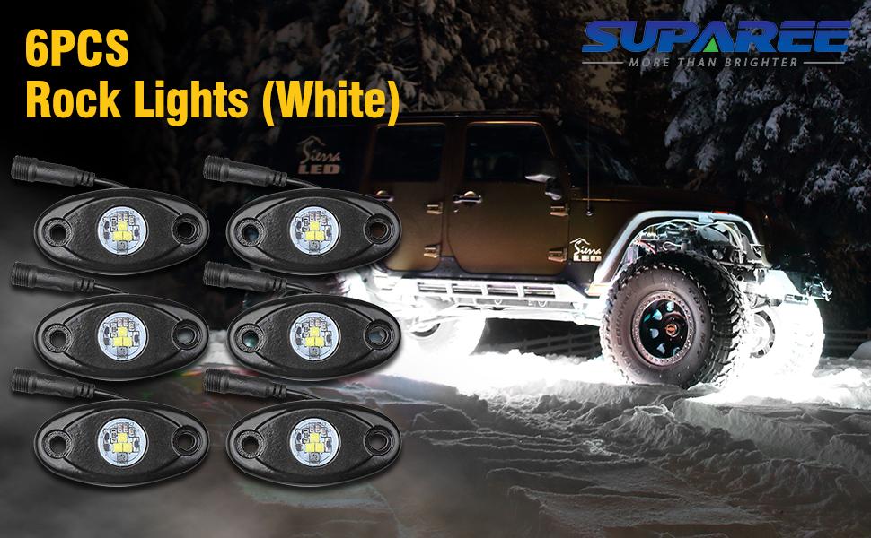 rock lights white