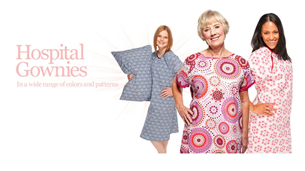 Amazon.com: Gownies - Designer Hospital Patient Gown, 100% Cotton ...