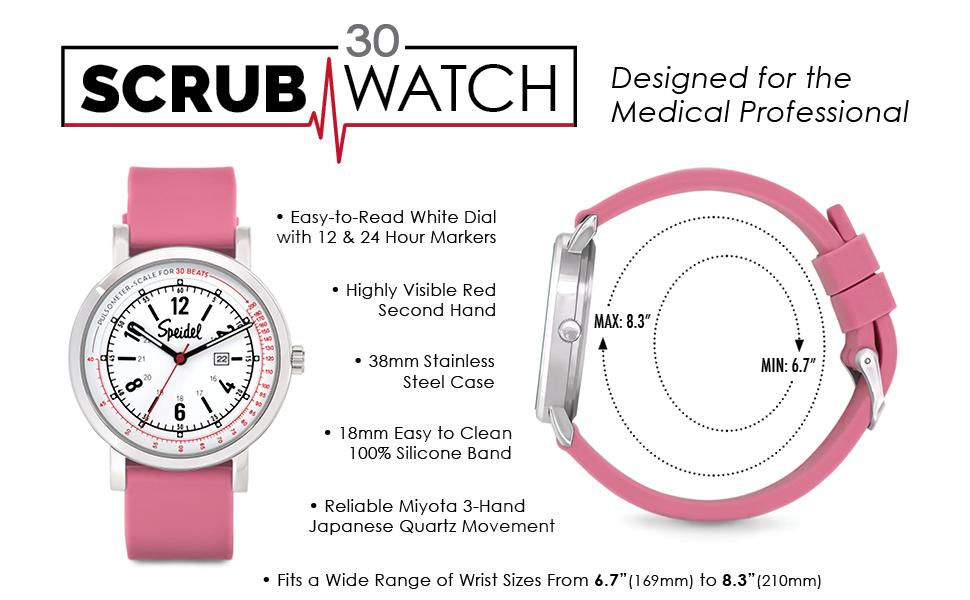 Speidel Scrub 30 Pulsometer Watch