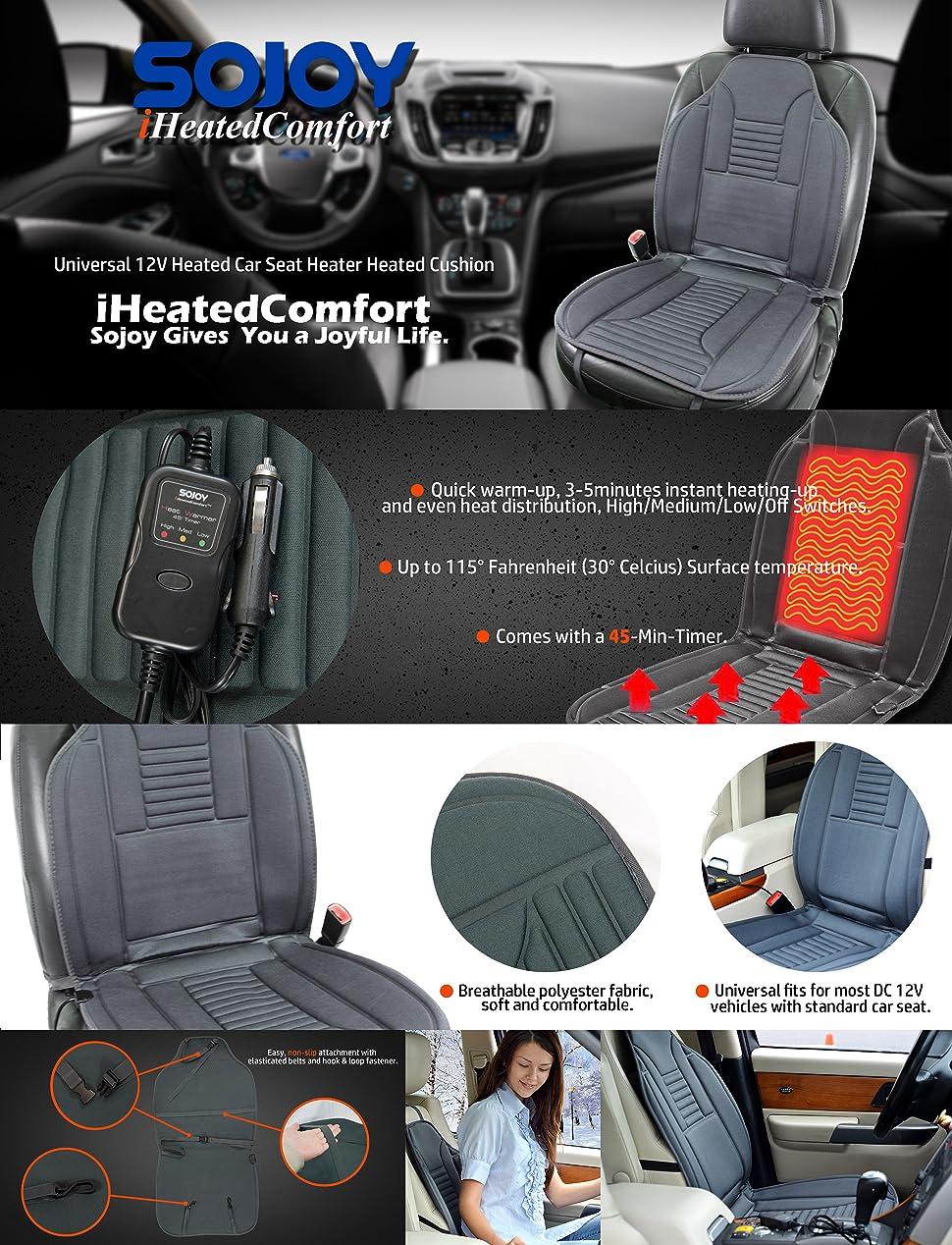 Amazon Sojoy Universal 12V Heated Car Seat Heater