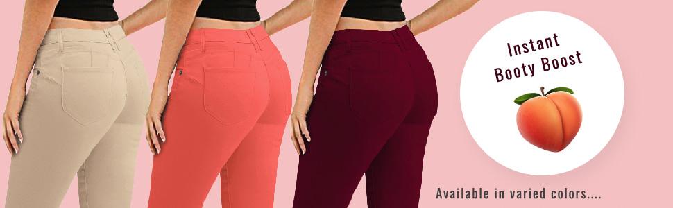Amazon.com: Hybrid & Co. jeans de yoga ajustados de ...