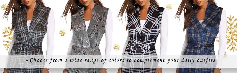 Women's Vest Jacket Cardigan Blazer