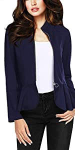 quality design 0d526 e7645 Double Notch Lapel Sharp Shoulder Pad Office Blazer · Casual Work Office  Open Front Blazer Jacket Made in USA · Fashion Color Zip Up Bomber Jacket  ...