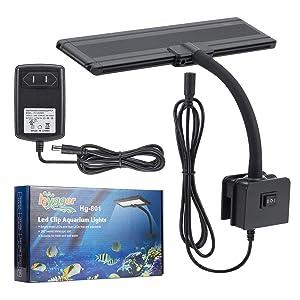 Amazon.com : hygger Blue White LED Aquarium Lights, Clip