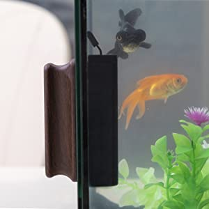 Magnetic Fish Tank Cleaner Brush with 2 Aquarium Algae Scrapers Floating Strong Magnetic S//M Hygger Aquarium Glass Cleaner