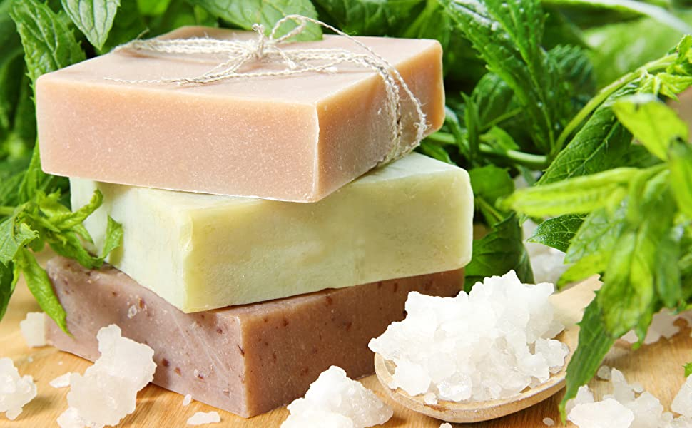 all natural soap bar all skin type, eczema, back acne treat dry rough skin essential oils soap