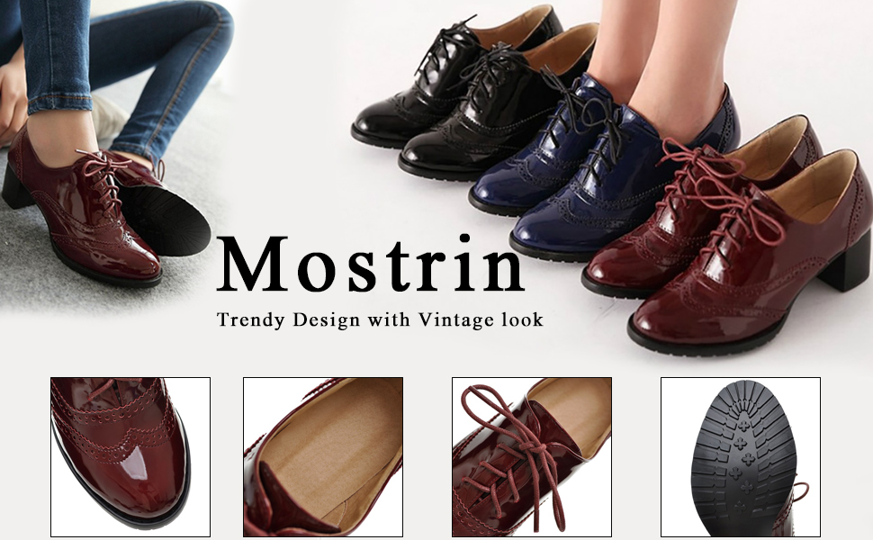 e7d5995dfa80 Mostrin British Style Women s Wingtip Oxford Shoes