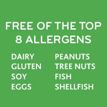 Free of the top 8 allergens