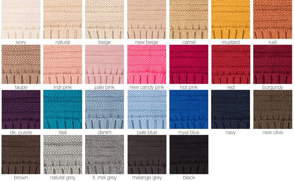 knit beanie hat for women cc winter cap colors