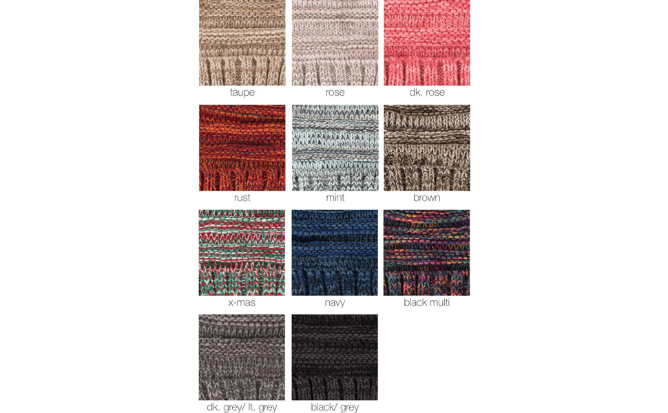 knit beanie hat for women winter cap mixed colors