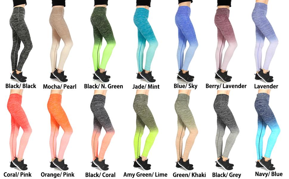 779d8359053f5c SERENITA Women's Activewear Fitness Ombre Workout Yoga Pants (Capri ...