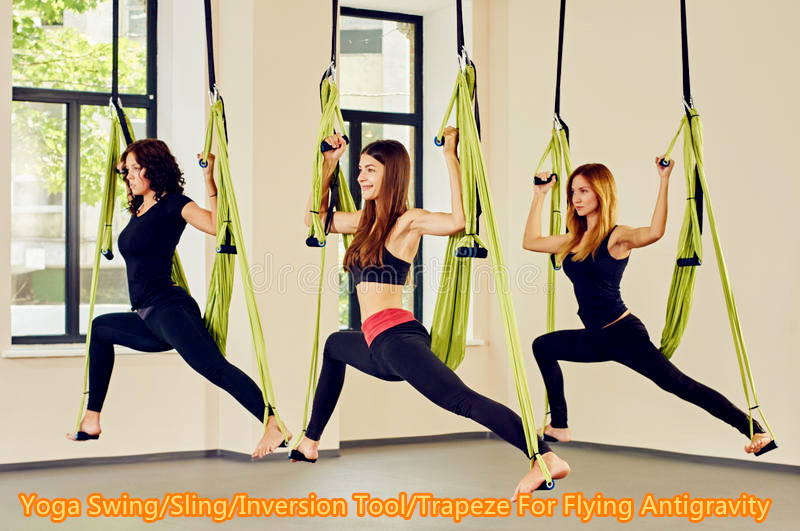 aerial anti gravity yoga hammock swing fitness inversion pilates yoga swing trapeze sling inversion tool amazon     everking aerial yoga straps trapeze   antigravity      rh   amazon