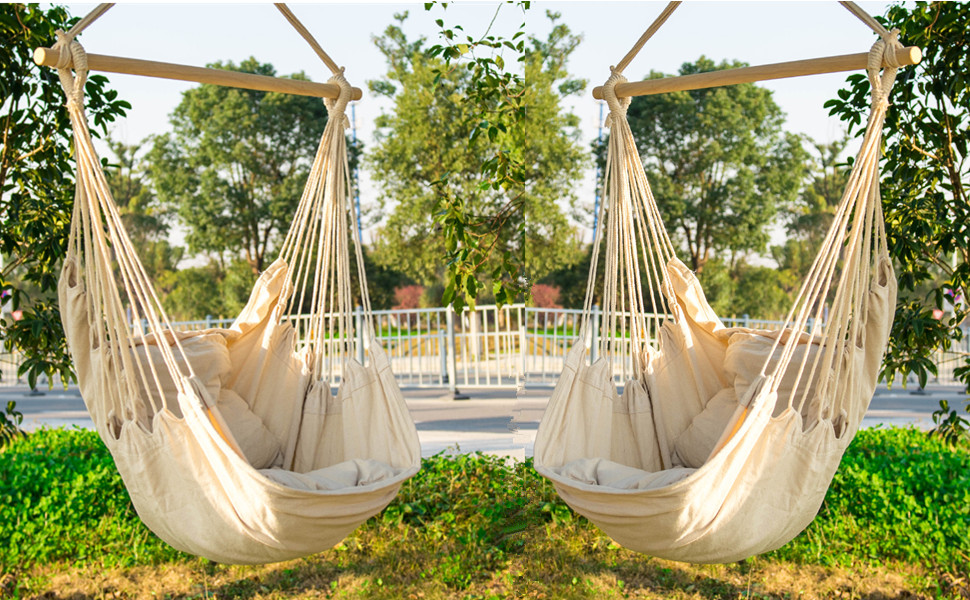 Amazon Com Everking Hanging Rope Hammock Chair Porch
