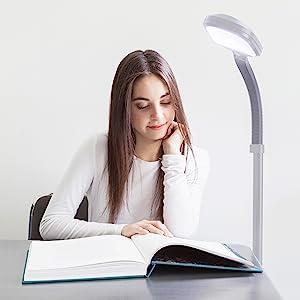 Brightech Litespan LED Bright Reading and Craft Floor Lamp - Modern Standing Pole Light & Gooseneck