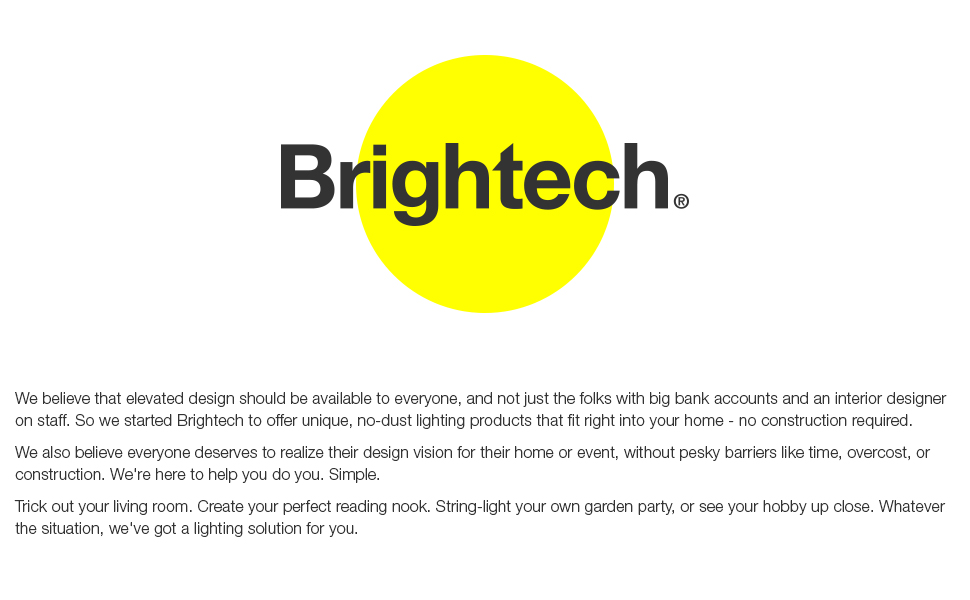 Brightech LED: Outdoor String Lights, Floor, Magnifier & Table Lamps