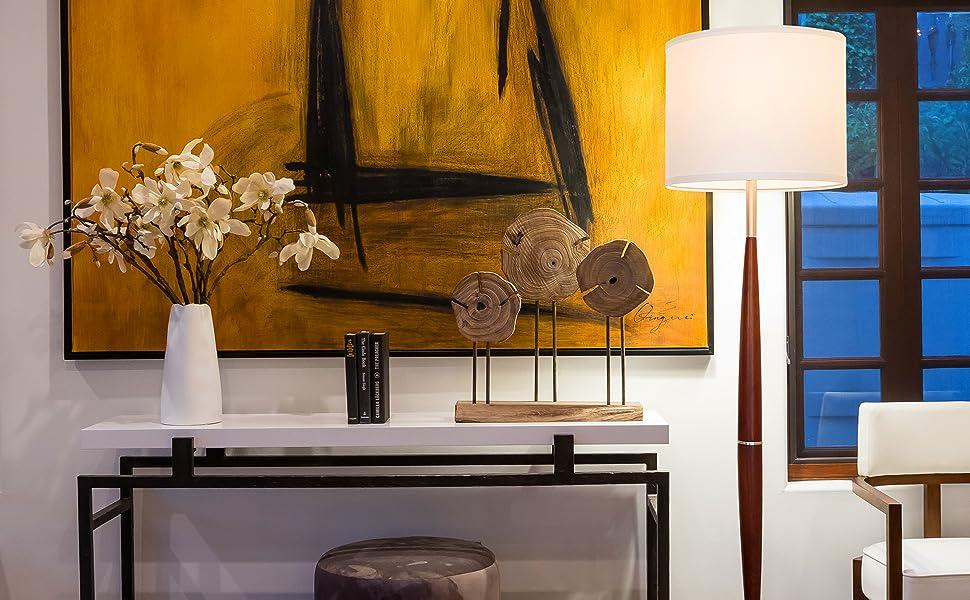 Brightech Lucas LED Pole Floor Lamp - Modern Living Room Light Fits Beside The Sofa amp; In Corners