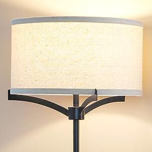 Brightech Elijah LED Floor Lamp – Free Standing Pole Light for Living Room or Office