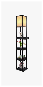 Brightech Maxwell Led Shelf Floor Lamp Modern Standing