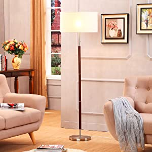 Brightech Carter Floor Lamp For Mid Century Modern Living Rooms Contemporary Office