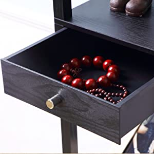 Maxwell Drawer Edition - Shelf amp; LED Floor Lamp Combination