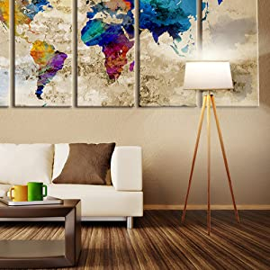 Brightech Emma Led Tripod Floor Lamp Modern Design Wood
