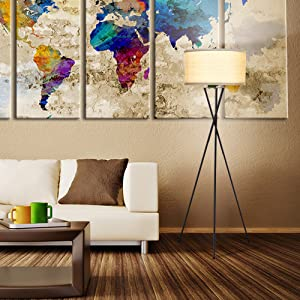 STYLISH CONTEMPORARY LIVING: Add A Touch Of Style To Your Living Room By  Adding This Beautiful Contemporary Tripod Floor Lamp That Looks Good With  Almost ...