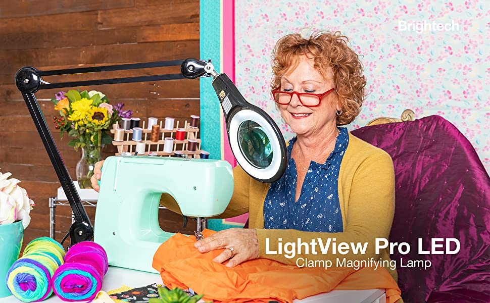 Brightech Lightview Pro Led Magnifying Glass Desk Lamp