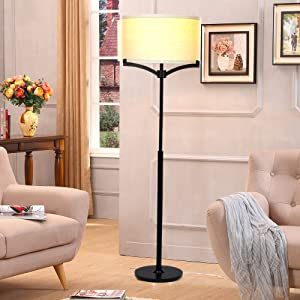 Brightech Elijah LED Floor Lamp U2013 Free Standing Pole Light For Living Room  Or Office