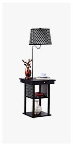 Brightech Maxwell Led Shelf Floor Lamp Modern Standing
