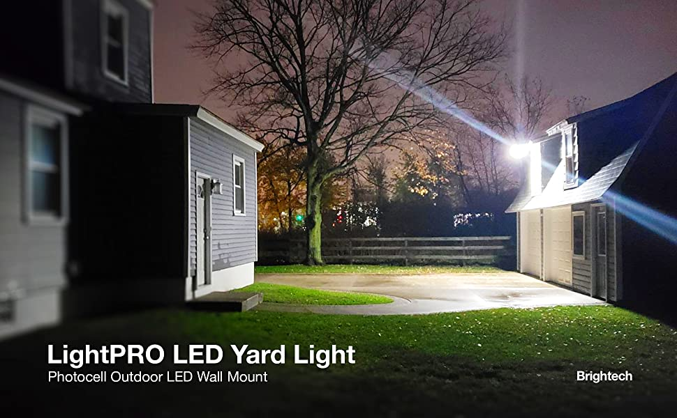 Brightech Lightpro Led Yard Light Brightest Most Cost Effective Security Light On The Market 56 Watts Dusk To Dawn Photocell Outdoor Led