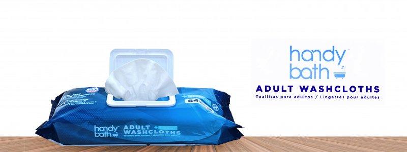 Handybath Incontinence Flushable Adult Washcloths with FRESH SCENT