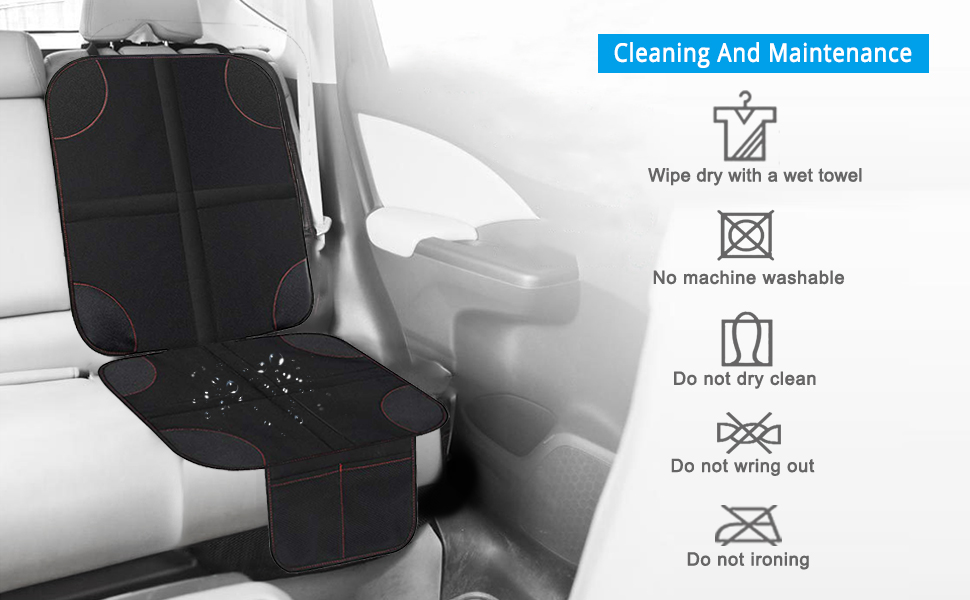 Xboun Car Seat Protector 2 Pack for Child Car Seat, Auto Seat Cover Pad Under Baby Carseat – Waterproof and Dirt Resistant for SUV, Sedan, Truck (2 ...