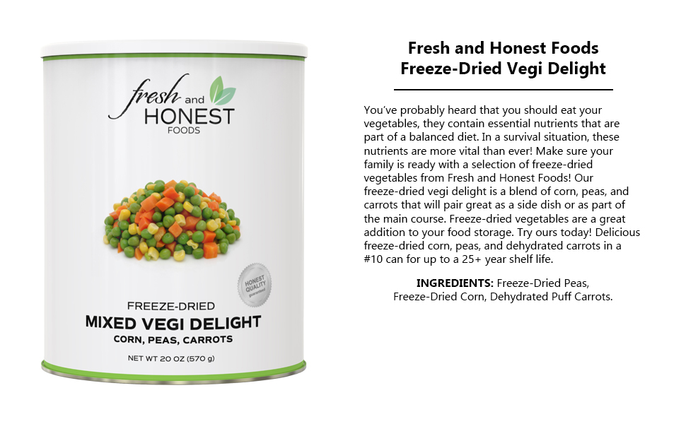 freeze dried dehydrated dry vegetable veggie mix blend soup stew flake piece healthy natural vegan