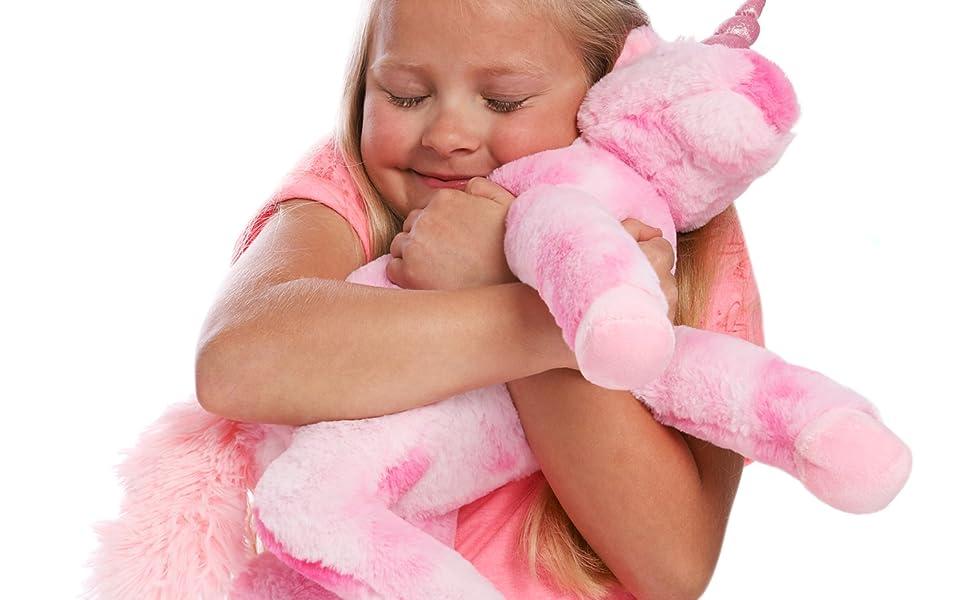 Unicornio De Peluche 18 Pulgadas Grandes Para Cumpleaños De Niña Peluches Rosa