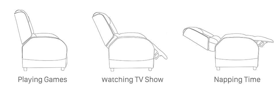 Amazon.com: Polar Aurora - Silla reclinable para videojuegos ...