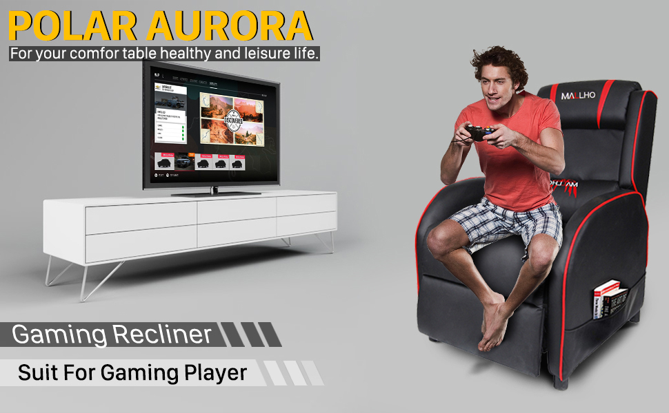 Amazon.com: Polar Aurora - Silla reclinable para videojuegos ...