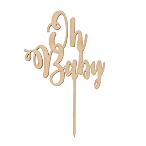 cake topper wooden oh baby