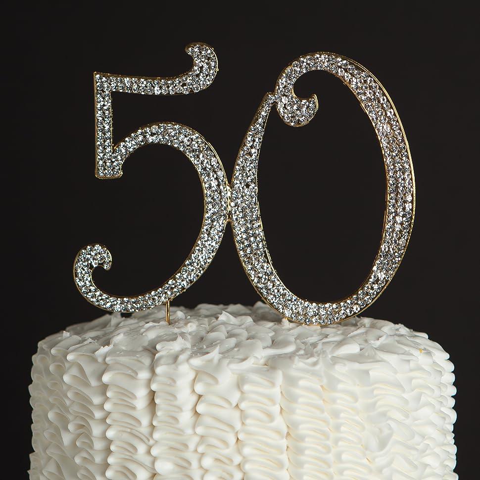 50 Gold Premium Cake Topper