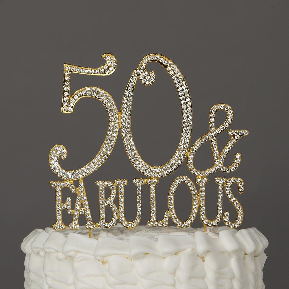 Fabulous 50 Cake Topper: Amazon.com: Ella Celebration 50 & Fabulous Cake Topper