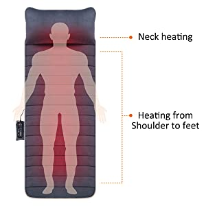 heating pad for full body back massager with heat