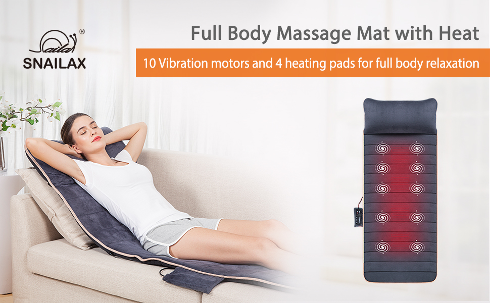 full body massage mat massager for neck and upper back lower back vibration heating pad