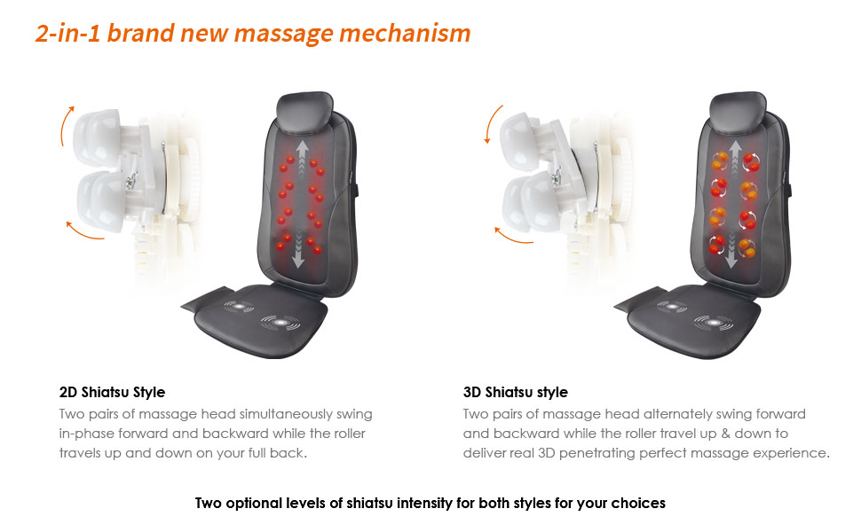 Massage chair with kneading rollers massage seat cushion