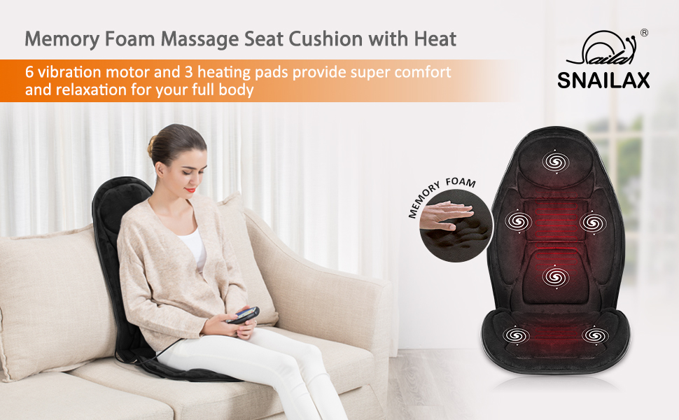 seat cushion massage heated chair pad massage chair back massager for car and home use