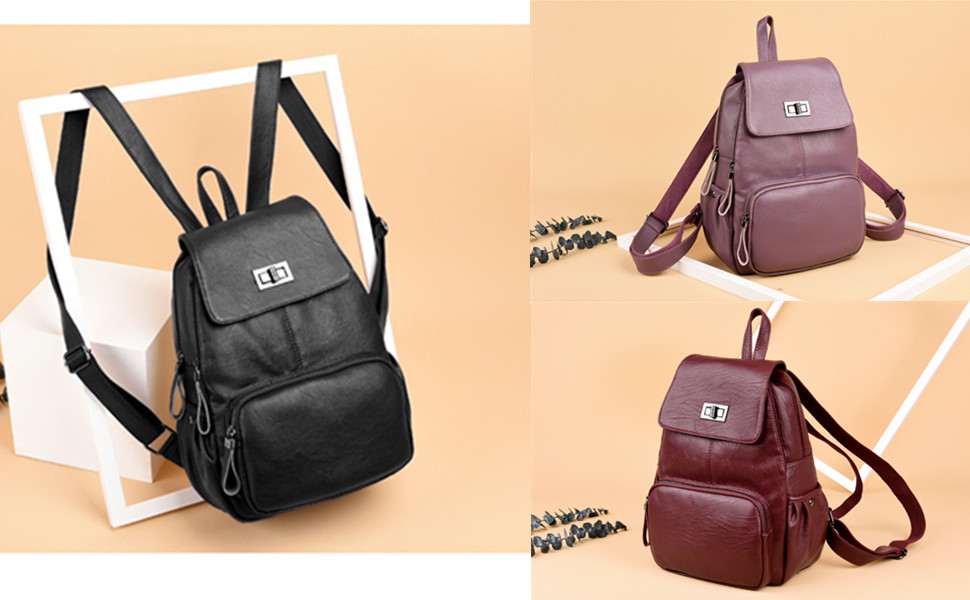 It s a beautiful and simplistic design leather zipper closure backpack.Great  backpack for women. - There is a back zipper pocket to keep your important  ... f304d6a0e
