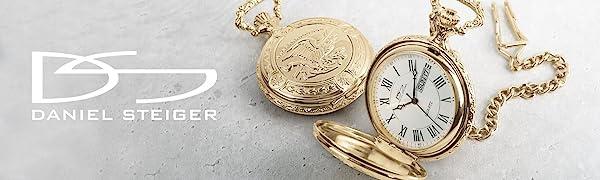 pocket watch watches gold chain eagle america pocketwatch timepiece hunter