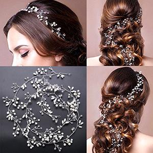 Hair Headpiece Pearl Wedding Hair Vine